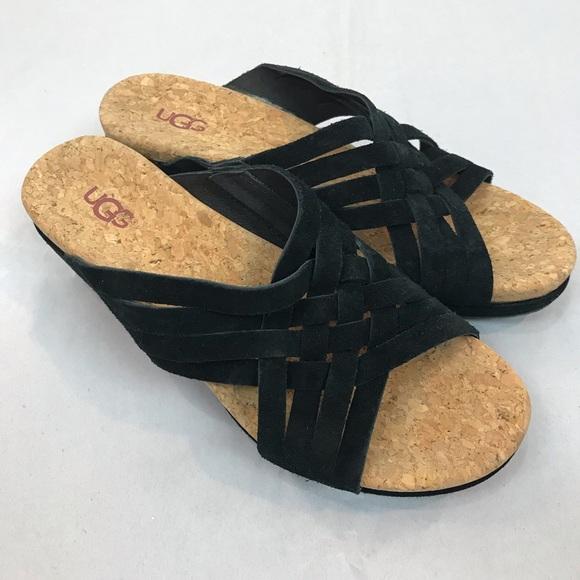 78ba59a9c0 Ugg Lilah Black Suede Wedge Sandals. M_5c75b67e8ad2f9cd61f7ac67